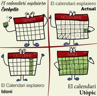 Quin calendari fas servir a l'esplai per treballar els drets dels infants?